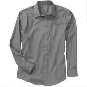 George Long-Sleeve Poplin dress Shirt gray sz XL